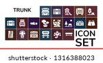 trunk icon set. 19 filled trunk ... | Shutterstock .eps vector #1316388023