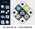 forum icon set. 13 filled forum ... | Shutterstock .eps vector #1316388206