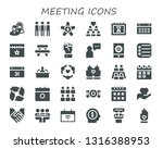 meeting icon set. 30 filled... | Shutterstock .eps vector #1316388953
