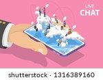 flat isometric vector landing... | Shutterstock .eps vector #1316389160