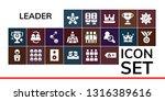 leader icon set. 19 filled... | Shutterstock .eps vector #1316389616