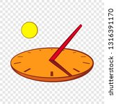 sundial icon in cartoon style... | Shutterstock .eps vector #1316391170