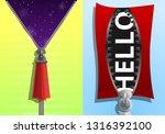 zipper sweatshirt banner set....   Shutterstock .eps vector #1316392100