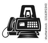 fax front view icon. simple... | Shutterstock .eps vector #1316392343