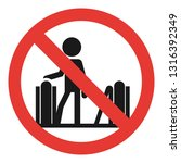 do not enter escalator icon.... | Shutterstock .eps vector #1316392349