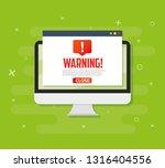 pc alert notification concept... | Shutterstock .eps vector #1316404556