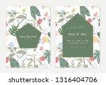 botanical wedding invitation... | Shutterstock .eps vector #1316404706
