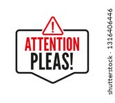 attention please  important... | Shutterstock .eps vector #1316406446