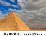 pyramid of khafre or of... | Shutterstock . vector #1316409176