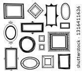 sketch vintage frames ... | Shutterstock .eps vector #1316411636