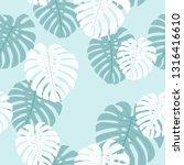 monstera seamless pattern....   Shutterstock .eps vector #1316416610