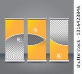 vector orange roll up banner...   Shutterstock .eps vector #1316423846