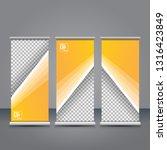 vector orange roll up banner...   Shutterstock .eps vector #1316423849