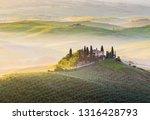 italy  tuscany  san quirico d... | Shutterstock . vector #1316428793