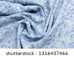 cotton fabric with blue... | Shutterstock . vector #1316437466