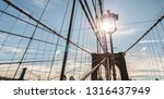 the sun shines from the piers... | Shutterstock . vector #1316437949