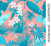 tropical vector turquoise... | Shutterstock .eps vector #1316439653