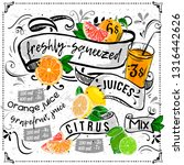 juice menu placemat drink... | Shutterstock .eps vector #1316442626