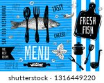 seafood menu logo design ... | Shutterstock .eps vector #1316449220