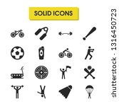 exercise icons set with bike ...