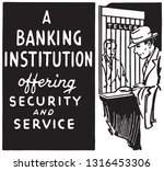 a banking institution | Shutterstock .eps vector #1316453306