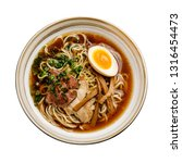 ramen asian noodle in broth... | Shutterstock . vector #1316454473