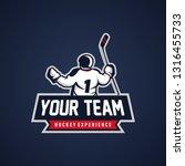 hockey badge logo | Shutterstock .eps vector #1316455733