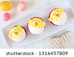 hatching spring chick cupcakes... | Shutterstock . vector #1316457809