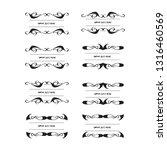 set of vector vintage frames... | Shutterstock .eps vector #1316460569