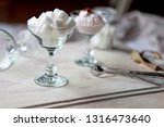 white refined sugar cubes in... | Shutterstock . vector #1316473640