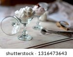 white refined sugar cubes in... | Shutterstock . vector #1316473643