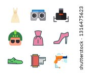 lady vector icon set | Shutterstock .eps vector #1316475623