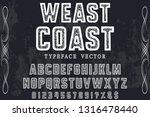 font alphabet script typeface... | Shutterstock .eps vector #1316478440