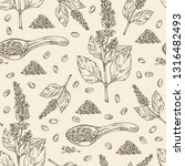 seamless pattern with chia ... | Shutterstock .eps vector #1316482493