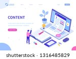 web content concept with... | Shutterstock .eps vector #1316485829