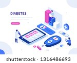 diabetes monitoring concept.... | Shutterstock .eps vector #1316486693