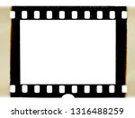 real scan of burned 35mm... | Shutterstock . vector #1316488259
