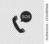 sos call icon isolated on... | Shutterstock .eps vector #1316489666