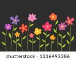 colorful spring flowers on... | Shutterstock .eps vector #1316493386