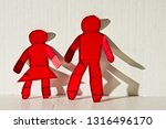 abstract image of red paper...   Shutterstock . vector #1316496170