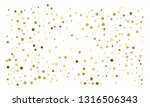 golden confetti on white... | Shutterstock .eps vector #1316506343