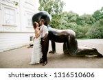 happy smiling wedding couple of ...   Shutterstock . vector #1316510606