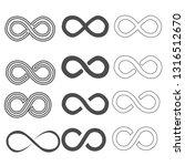infinity vector symbol set   Shutterstock . vector #1316512670