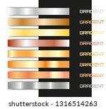beautiful metal gradient set.... | Shutterstock .eps vector #1316514263