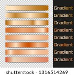 metal gradient set. gold and...