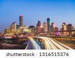 houston  texas  usa downtown... | Shutterstock . vector #1316515376