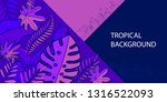 trendy natural horizontal... | Shutterstock .eps vector #1316522093