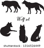 vector set of gray or polar... | Shutterstock .eps vector #1316526449