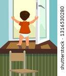 the boy stands in an open...   Shutterstock .eps vector #1316530280