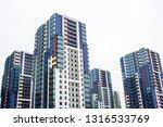 skyscrapers. modern glass... | Shutterstock . vector #1316533769